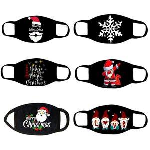 Горячие продажи моды чистая черные печатных рождественских маски Рождественской дышащий хлопок ткань маска пыл дышащих моющихся масок