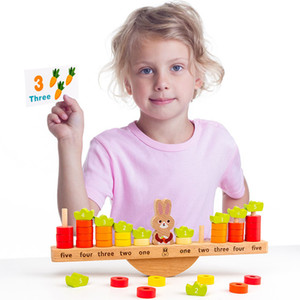 Rabbit balance fun early education counting to see science and education number addition and subtraction enlightenment toys Montessori teach
