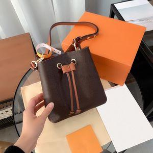 Luxurys Designers Sacos Moda Mulheres Crossbody Impresso Handbag Senhoras Bolsas De Couro Genuíno Bolsa 2021 Mini Bucket Bolsas Bolsas919