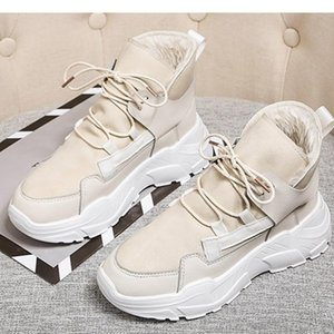 High Top Women's Shoes Winter Women Boots Warm Fur Plush Lady Casual Shoes Lace Up Fashion Sneakers Platform Snow Boots