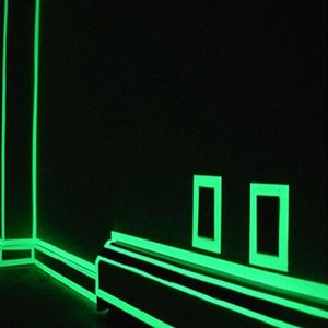 2020 New Glow in the Dark 3 Meters Long Tape Luminescent Lime Green Warning Tape Duct Kids DIY Craft Repairs Decorative