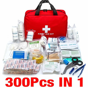 300Pcs Portable First Travel Outdoor Camping Home Household Emergency Bag Band Aid Bandage Treatment Pack Survival Kit Y200920