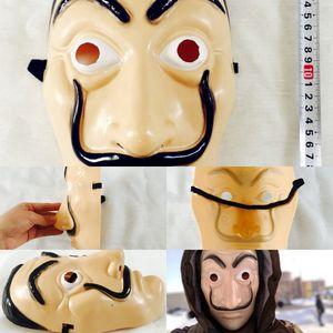 Salvador Dali Mask movie The House of Paper La Casa De Papel Cosplay Accessories Halloween Masks Heist Costume