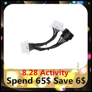 5-20pcs OBD 2 Y Splitter Extension Cable obd2 16PIN Male to Female ELM327 Electronic Wire Connector