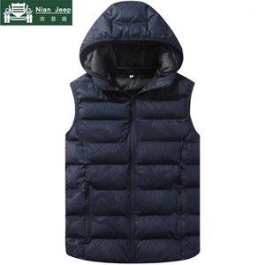 Мужские жилеты 2021 осенью зима теплый жилет мужчина без рукавов куртка без рукавов тайный жилет тонкий подходящий мужской модные повседневные пальто плюс размер M-4xL1
