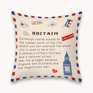 National State Envelope Pillowcase Printed SHORT FLOSS Pillowcase Retro Throw Pillow Case Home Pillow Covers LLA236