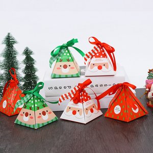 Christmas Packing Gift Bag Candy Boxes for Kids Birthday Wedding Favors Box Event Xmas Party Supplies JK2010KD