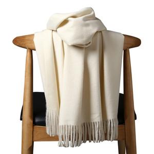 Alta Qualidade Cashmere Scarves para Mulheres Homens Espessura Quente Winter Poncho Luxo Lã Pashmina Mulher Long Winter Scarf Shawl Stole LJ201114