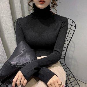 Seksi Ince Turtelneck Kazak Kore Tarzı Üst Kazak Kış Uzun Kollu Turtelneck Kazak Ropa Mujer Bayan Giyim DB60MY