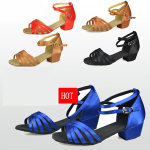 Dance shoes Christmas Gift ballroom latin dance shoes kids shoes Satin Suede oxfords low wear resistance Low price wholesale Hot 201017