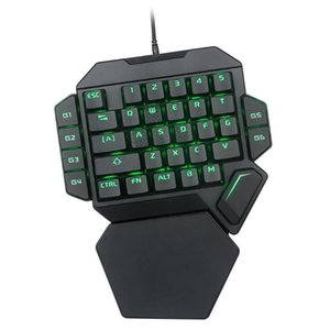 K50 Wired USB Mechanical One-Handed Gaming Keyboard   RGB Luminous Gaming Mechanical Keyboard   Green Shaft