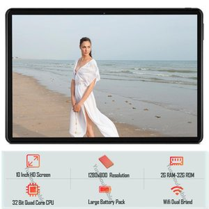 Tablet PC Global Version Dual SIM-звонок Call 10 дюймов Quad Core 2GB RAM 32GB ROM Камеры Android 9.0 ОС 1280x800 IPS HD