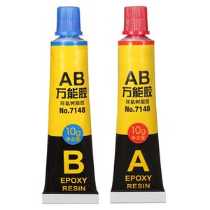 2 Pcs  Set Epoxy Resin Contact Adhesive Super Glue For Glass Metal Ceramic Stationery Office Material School Supplies