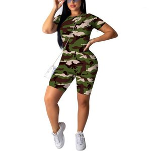 Fashionable Workout Active Wear Ribbed Rompers Womens Jumpsuit Sporty Long Sleeve Fitness Camo Jumpsuits1