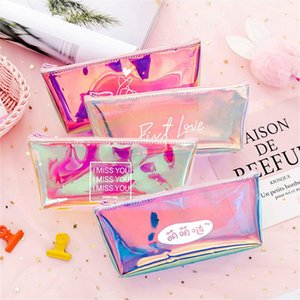 Transparent Cosmetic Bag Fashion Travel Makeup Bag Zipper Make Up Organizer Pouch Toiletry Student Pencil Pouch