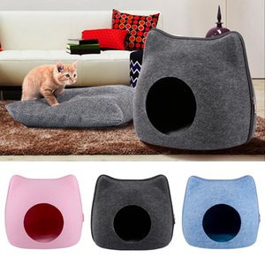 Cat Bed Cave Sleeping Bag Zipper Egg Shape Pet Bed Cat House for Cats Animals Beds Basket Nest Cushion Pet Supplies