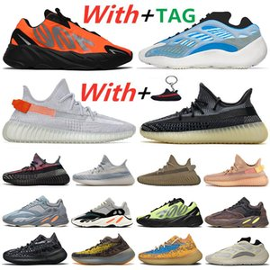 700 V2 700s Kanye West Orange Wave Runner Phosphor Homens Running Shoes Azael Alvah Estrangeiro azul do osso aveia Inércia malva Tephra estática Sneakers