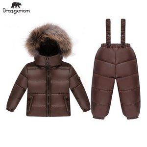 Liquidación de la venta de orangeMom Chaqueta para niños Pato Down Abrigo infantil Cortavientos para niñas Impermeable Impermeable Niños Niños Snowsuits