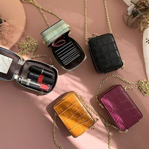 RAZALY Genuine Leather WOC borse e borse del sacchetto piccolo lembo Mini Card con le donne Borse Specchio frizione catena 2ijL #