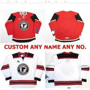 Real 121 Real Bordado Completo # Personalizar QMJHL Quebec remparts Vermelho Branco Vintage Hóquei Jersey ou Personalizado Qualquer nome ou Número Hóquei Jersey