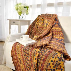 Canapé 100% coton Couverture Inde Carpet pour salon Chambre à coucher Tapis Canapé Géométrique Couverture Turc Turkish Pattern StickPread1