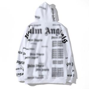 Atacado Padrão amante PALM animal ANJOS revestimento encapuçado das mulheres dos homens Casual Hip Hop Cotton Sweater Casual off camisas projetistas white bolsas 13