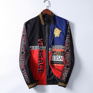 Versace jacket Uomo fine giacca invernale Autunno Slim Fit Avatar di stampa della lettera del progettista del Mens abiti maschili rivestimenti casuali di formato M-3XL