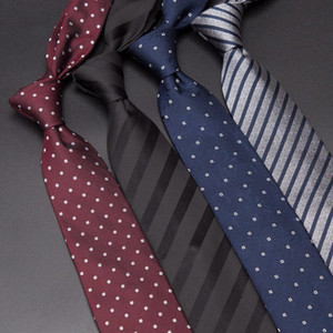 Men Silk Ties Luxury Mens Fashion Dot Stripe 8cm Neckties Gravata Jacquard Tie Business Man Wedding Dress Shirt Accessories 201027