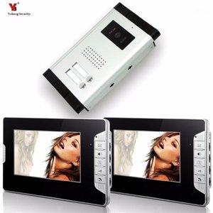 """Yobang Security Wired 7 """"Video Door Phone-Video-Türeintrag Intercom-Systemeintragszugangssystem für 2 Einheiten Wohnung Intercom1"""