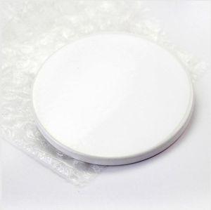 9cm Sublimation Blank Ceramic Coaster White Ceramic Coasters Heat Transfer Printing Custom Cup Mat Pad Thermal Coasters SEASHIPPING LJJP762