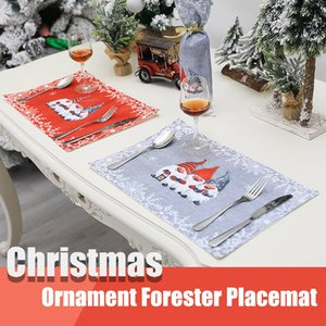 Christmas Table Mats Heatproof Cloth Christmas Kitchen Decoration Placemat Elk Tree Table Mat For Christmas Decoration
