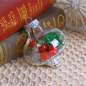 Ornements de Noël Ornements Transparent Ball Ball Hollow Ball Enfants Petits cadeaux Nouvel An Décorations Restaurant Bar Décorations GWC3333