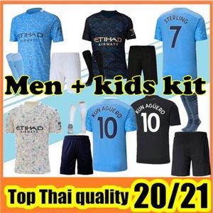 2020/21 Man Manchester Soccer Jersey City 2021 الصفحة الرئيسية Away Third Mailleot De Foot Kun Aguero Mahrez 20 21 Sterling Men Kids Kit Football Commet