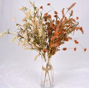 krep kağıt yapay çiçek yeşil beyaz pembe çiçekler yeşil yaprak ev salon Dekoratif Çiçek 4 renk