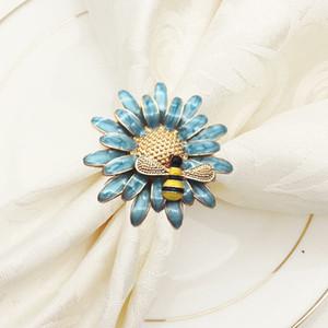 Kirsite Tovagliolo Anelli Primavera Honeybee Flower Flower Western Restaurant Popular Hotel Tovaglioli Bubby Creativo con colori diversi 5 5HW J1