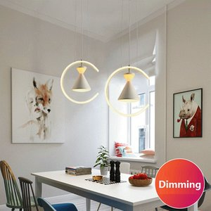 Nordic simple single head dining dimming led pendant lamp modern creative acrylic dining room restaurant cafe bar led chandelier RW469