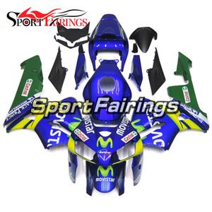 Kit de carénages de moto verte bleu pour Honda F5 CBR600RR 2005 2006 CBR 600RRRR 05 06 Carrosserie d'injection complète ABS avec siège COWL Vente chaude