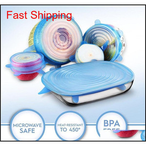 12pcs Reusable Sile Food Cover Stretch Lids Universal Food Wrap Cover Food Fresh Keeping Sile Caps Stret qylPkm yh_pack