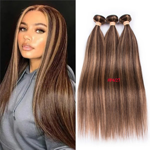 Highlight P4 27 Bundles With Closure Straight 3 Bundles With Closure Brazilian Hair Weave Bundles With 4*1 Lace Closure #luy