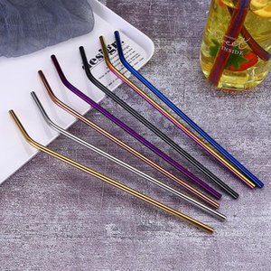 Stainless Steel Straw and brush Reusable Bend and Straight Metal 10.5 and 8.5 inch Extra Long Stainless Steel Straw Drinking Straws