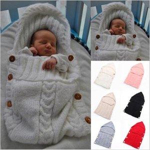 Yenidoğan Örme Uyku Tulumları Bebek El Yapımı Battaniyeler Yürüyor Kış Sarar Fotoğraf Künye Kreş Yatak Arabası Sepeti Kundak Kundaklar C3647