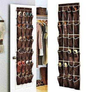 24 Pocket Hanging Storage Bag Door Holder Shoes Storage Holder Organizing Bag with Hooks Space Saver Home Organizer