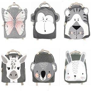 Kids Cartoon animal Backpacks Bags children Girls boys INS Butterfly monkey tiger giraffe koala rabbit elephant lion Travel Shoulders Bags