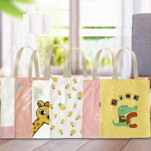 10 Стили Творческий мультфильм Tote сумки Реклама Магазины хлопок сумки холст мешки с высоким качеством и свободной перевозкой груза