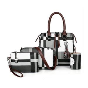 New Luxury Handbags Plaid Women Bags Designer 2021 Tassel Purses and Handbags Set 4 Pieces Bags Female Bolsa Feminina