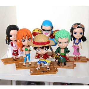 10pcs / Set Livraison Gratuite Japonais Anime Modèle One Piece Action Collection Figure Collection Luffy Nami Poupées Jouet pour enfants Y200421