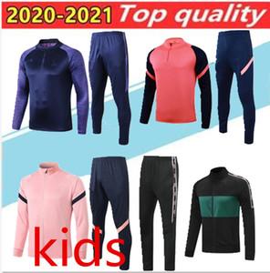 2020 2021 Adult + kids Spurs niños de la chaqueta de los muchachos Kane Bale formación trajes camiseta de fútbol Hijo niño manga larga chándal niños pre fútbol camisa del fósforo