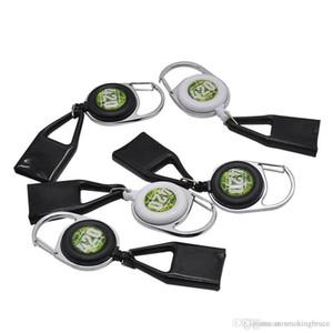 Lighter Leash Safe Stash Clip Retractable Keychain Smile Face Lighter Holder BLUNT SPLITTER Free shipping