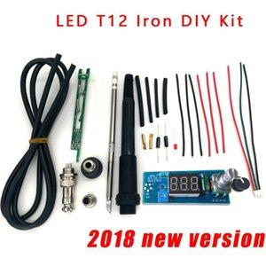 solda de ferro STC-T12 DIY kits / sets unidade da estação de ferro de solda Digital controlador de temperatura Kits / QUICKO MINI STC-LED-T12 DIY