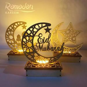Metal Led Lights Festival Lantern Happy Eid Mubarak Ramadan Decoration Islamic Muslim Party Supplies Hanging Lantern Decorative wmtzQf